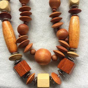 CHUNKY Wooden Necklaces